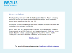 www.beallsflorida.com/survey